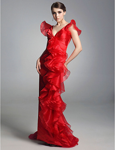 Organza-Sheath--Column-V-neck-Floor-length-Evening-Dress-inspired-by-Sex-and-the-City--FSH0186-_tppr1283938968379