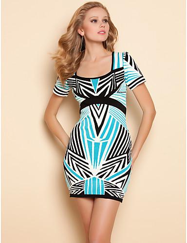 ts-contrast-stripes-print-short-sleeve-bodycon-dress_bkrimn1360980652783