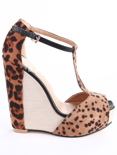 Brown-Leopard-Print-T-Strap-Peep-Toe-Horse-Hair-Woman-s-Wedge-Shoes-203520-0