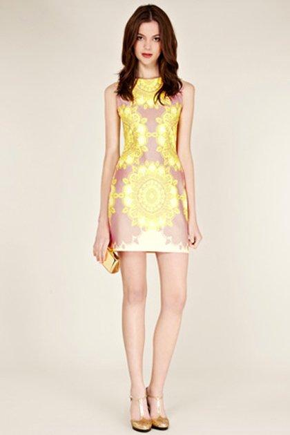 Free-shipping-Ladies-Fashion-Stamp-Slim-Evening-Dress-TA4953-