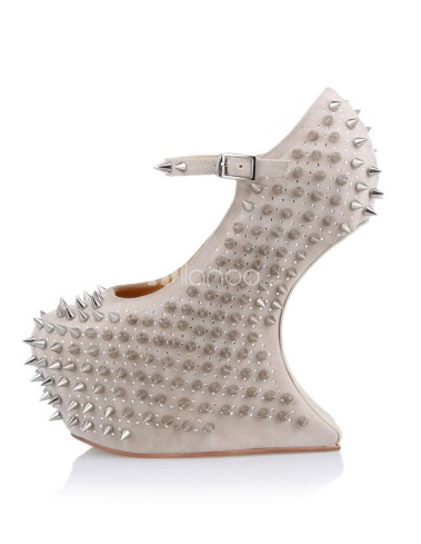 Sexy-Beige-Ankle-Strap-Spikes-Women-s-Wedge-Shoes-229556-0