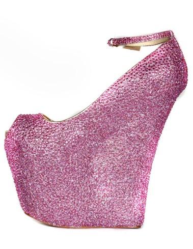 Sexy-Rose-Red-Sheepskin-Rhinestone-Embellished-Peep-Toe-Shoes-279488-0